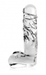Icicles No. 40 Glass Dildo with Balls